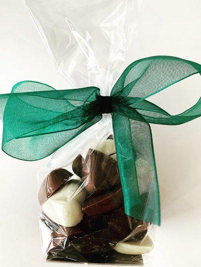 Bag of chocolate hearts.